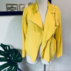 Yellow Ralph Lauren Plus Size Moto Jacket